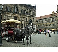 Tourist Time in The Old City Photographic Print