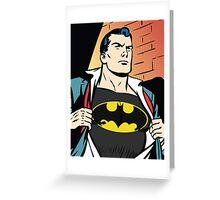 Superman x Bruce Wayne Greeting Card