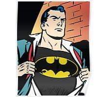 Superman x Bruce Wayne Poster