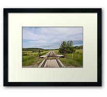 Down the Tracks Framed Print