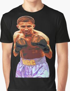 GGG Gennady Golovkin - Red/Bronze effect Boxing Graphic T-Shirt