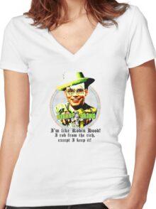 BLING BISHOP Women's Fitted V-Neck T-Shirt
