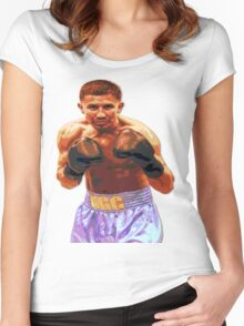 GGG Gennady Golovkin - Red/Bronze effect Boxing Women's Fitted Scoop T-Shirt