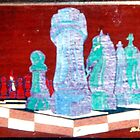 Chess set in Space by rod mckenzie