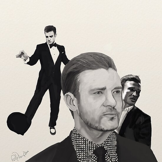 Justin Timberlake Portrait by Philip Thompson