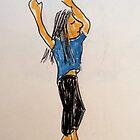 Daily Drawing Eight - abandon by carol selchert