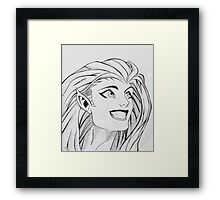 Blink? or Copycat? - Ink Drawing Framed Print