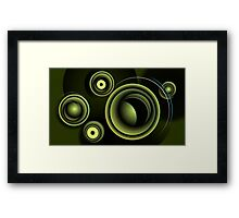 Green Metal Ovals Framed Print