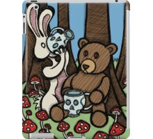 Teddy Bear and Bunny - The Mushroom Forest iPad Case/Skin