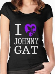 I <3 JOHNNY GAT - saints row Women's Fitted Scoop T-Shirt