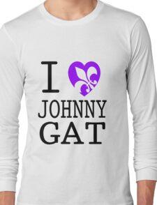I <3 JOHNNY GAT - saints row white Long Sleeve T-Shirt