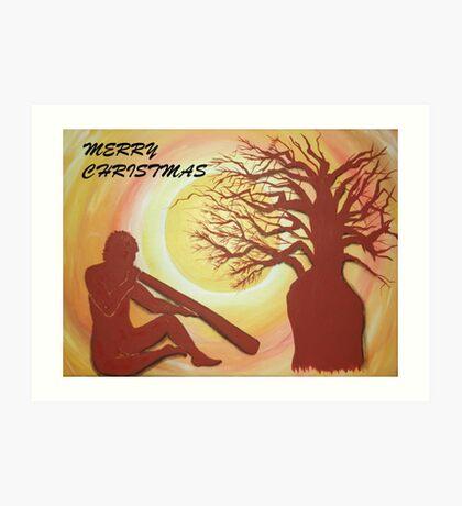 BOAB CHRISTMAS TREE Art Print