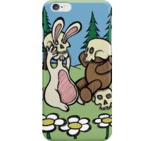 Teddy Bear and Bunny - Playing Dress Up iPhone Case/Skin