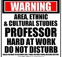 Warning Area, Ethnic & Cultural Studies Professor Hard At Work Do Not Disturb by cmmei