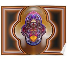 Double Polar Map of Crystal Visions Poster