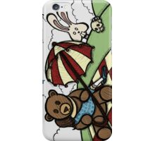 Teddy Bear and Bunny - The Girl That Came Between Them iPhone Case/Skin