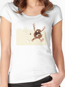 OMG a bee! Women's Fitted Scoop T-Shirt