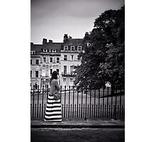 Girl in a Stripey Dress Photographic Print