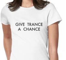 Trance Black Womens Fitted T-Shirt