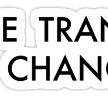 Trance Black Sticker