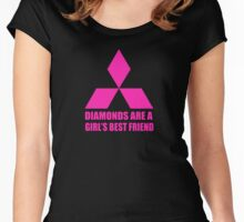 Diamonds are a girl's best friend pink Women's Fitted Scoop T-Shirt