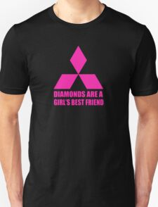 Diamonds are a girl's best friend pink Unisex T-Shirt