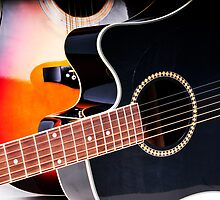 Acoustic Guitar Close Up by dabdev