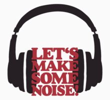Let's make some noise - DJ headphones (black/red) by theshirtshops