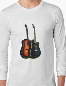 Acoustic Guitar Close Up Long Sleeve T-Shirt