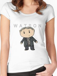 Watson | Martin Freeman [with text] Women's Fitted Scoop T-Shirt
