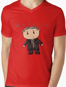 Watson   Martin Freeman [with text] Mens V-Neck T-Shirt