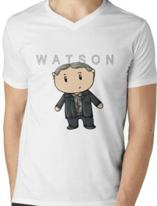 Watson | Martin Freeman [with text] Mens V-Neck T-Shirt