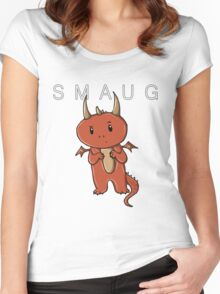 Smaug | Dragon [with text] Women's Fitted Scoop T-Shirt