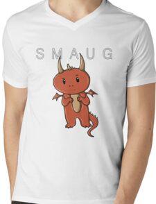 Smaug   Dragon [with text] Mens V-Neck T-Shirt
