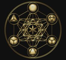 Platonic Solids, Metatrons Cube, Flower of Life Kids Clothes