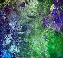 Frozen Stare - Abstract Painting in Ice by VibrantDesigns