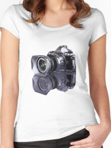 Olympus OM-D standing all on its own  Women's Fitted Scoop T-Shirt