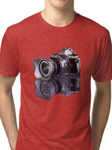 Olympus OM-D standing all on its own  Tri-blend T-Shirt