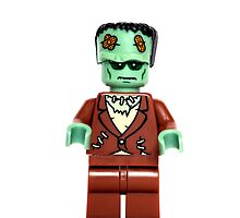 Happy Halloween Lego Frankenstein by LittleRedTrike