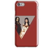The picture of a beauty and her beast. iPhone Case/Skin