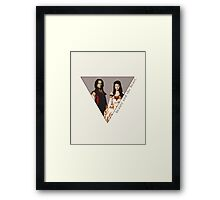 The picture of a beauty and her beast. Framed Print