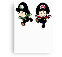 Super Mario Bros - Mario & Luigi Canvas Print