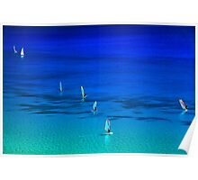 Surfing in Lefkada Poster