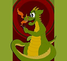 Dragon cartoon by Radka Kavalcova