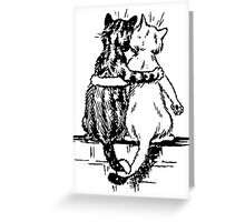Vintage Wain Cat Tails Art Greeting Card