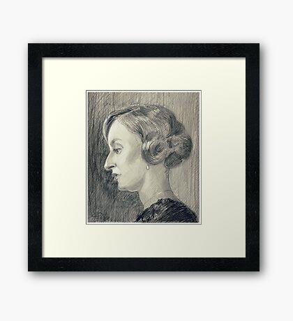 Lady Edith Crawley of Downton Abbey Framed Print