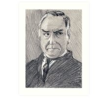 Charles Carson of Downton Abbey Art Print
