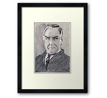 Charles Carson of Downton Abbey Framed Print