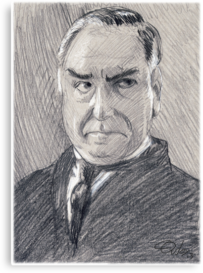 Charles Carson of Downton Abbey by COusley622