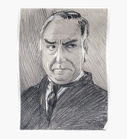 Charles Carson of Downton Abbey Poster